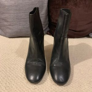DVF Black Leather Ankle Boots